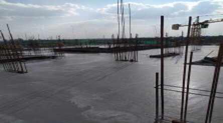 Hibiscus C3: 5th floor slab work completed at pour 2 - July 2020